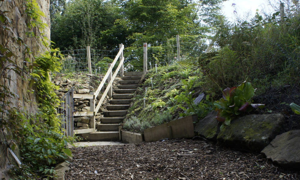 Swansfield Stables garden steps